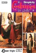 5359 Simplicity Pattern: Misses' Belly Dancing Costumes